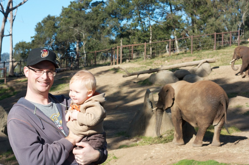 Me and Henry hanging out at the elephant pen